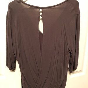 Olive green 3/4 sleeve blouse
